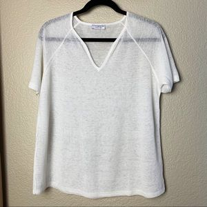 Morgano knit Made in Italy White Knit Top - L